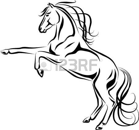 450x421 Rearing Horse Clipart