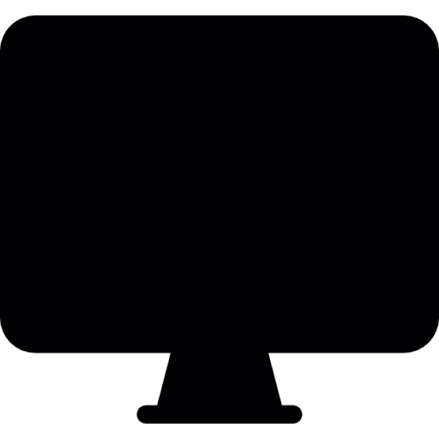 626x626 Flat Screen Monitor Silhouette Icons Free Download