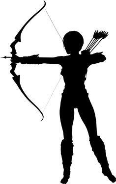 236x375 Archery Silhouette Archery Archery, Silhouettes