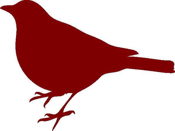 600x449 Red Bird Silhouette Clip Art