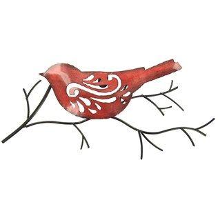 316x316 Red Bird On A Twig Metal Wall Decoration Shop Hobby Lobby