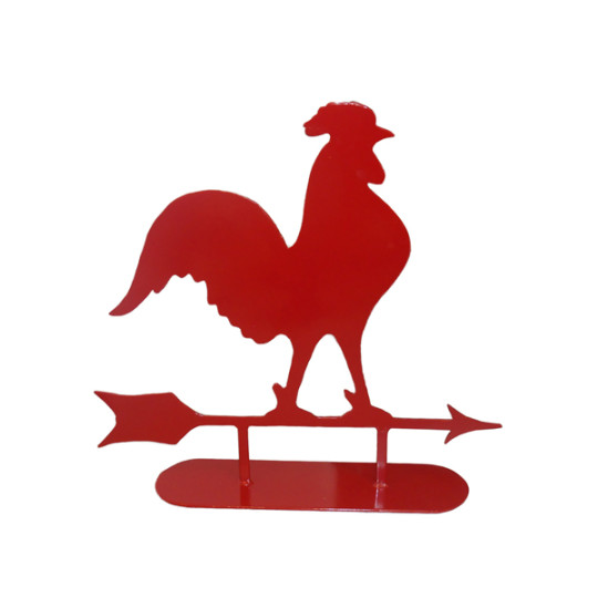 540x540 Red Metal Rooster Silhouette, Barn Art Bird Cages Red Etsy Classic