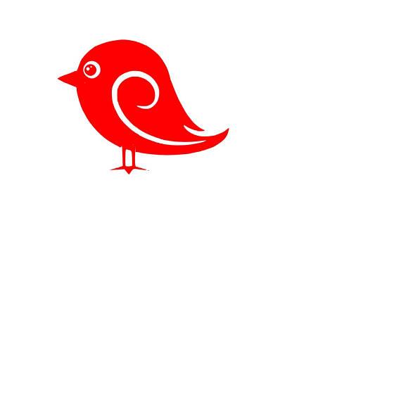 570x570 Bird, Bird Svg, Bird Silhouette, Bird Cut File, Whimsical Bird