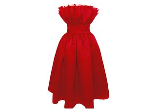 320x223 Plakinger Valentine Red Silk Organza Dress Best Red Carpet