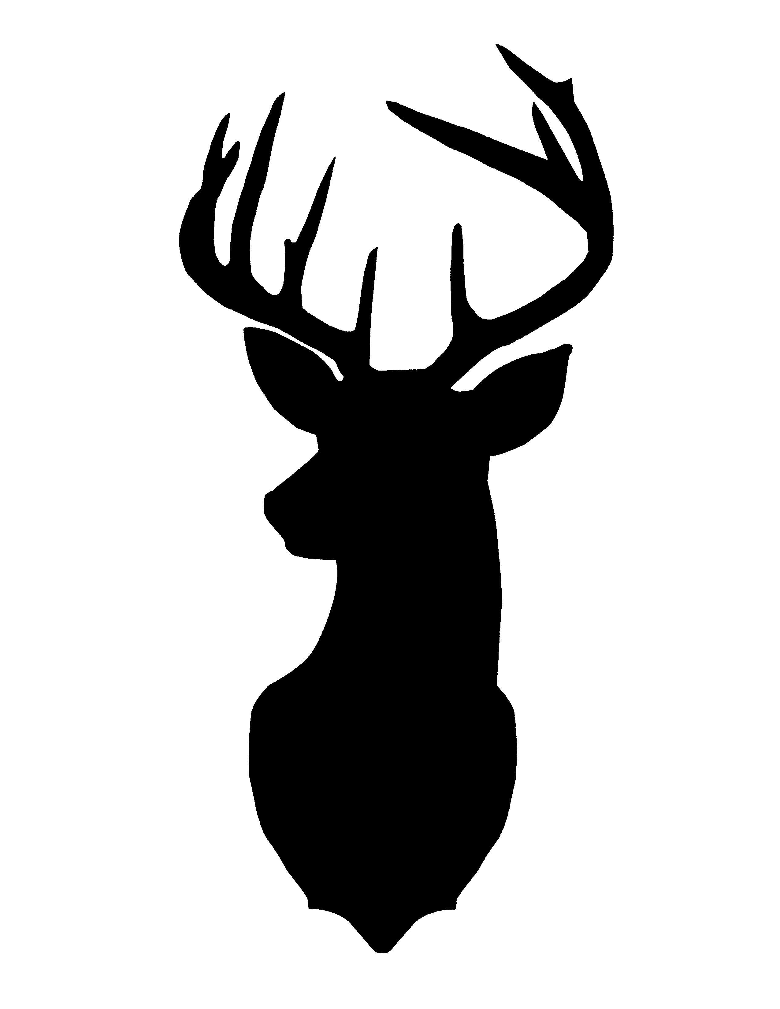 2550x3300 Deer Head Outline Clipart