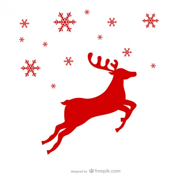 626x626 Red Reindeer Silhouette Vector Free Vector Download In Ai, Eps