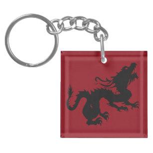 307x307 Dragon Silhouette Key Rings Amp Dragon Silhouette Key Ring Designs