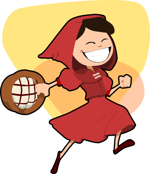 512x593 Little Red Riding Hood Clipart I2clipart