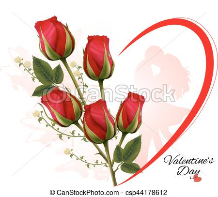 450x407 Happy Valentine's Day Beautiful Background With Roses