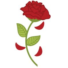 236x236 Red Rose Svg File For Sure Cuts A Lot Silhouette Download