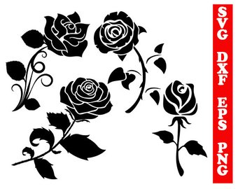 340x270 Red Rose Svg Rose Silhouette Rose Clipart Rose Blossom
