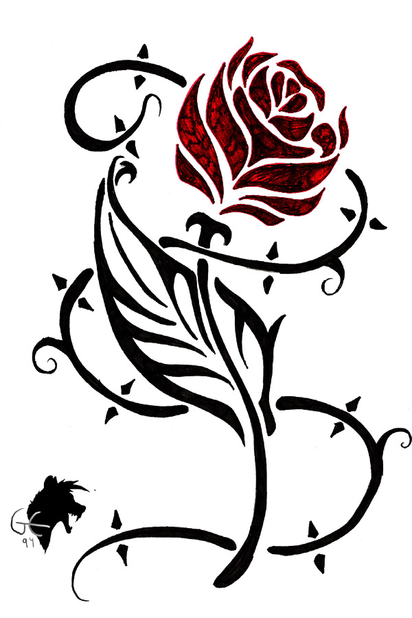 600x900 Beauty And The Beast Rose Silhouette Free Clipart