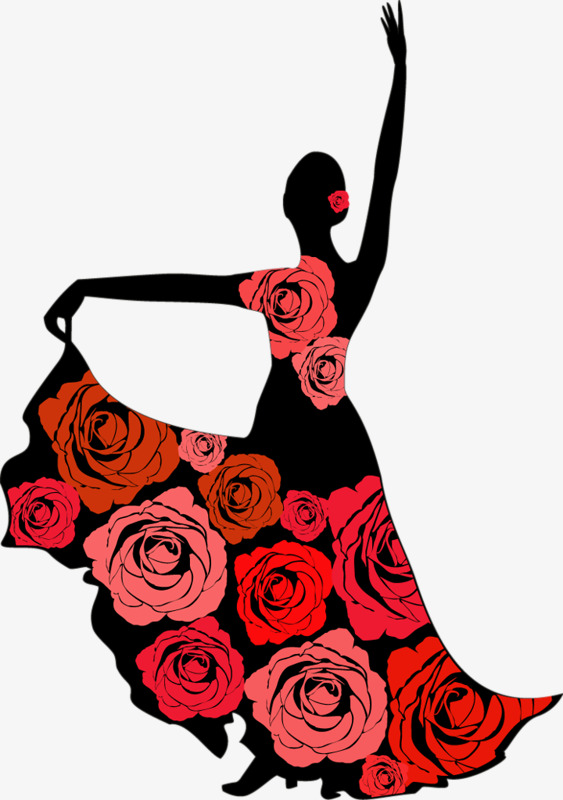 563x800 Dancers Silhouette, Dancing, Sketch, Red Png Image And Clipart