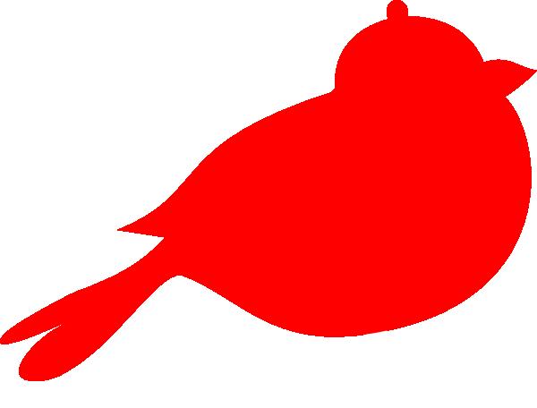 600x456 Red Bird Silhouette Clipart