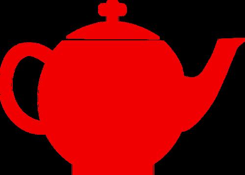 500x356 Red Silhouette Vector Clip Art Of Tea Pot Public Domain Vectors