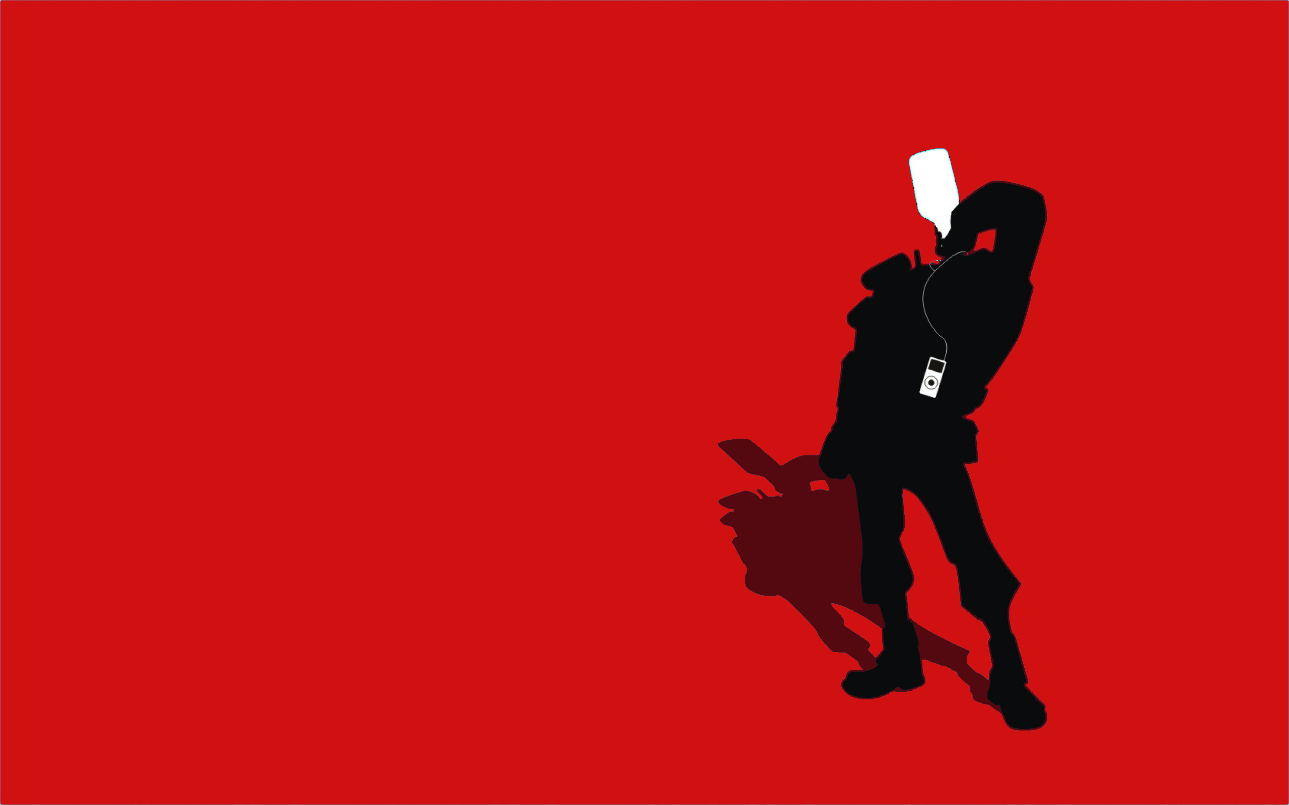 2560x1600 Tf2 Red Demoman Silhouette Ipod Earbuds 2560x1600 By Cwegrecki