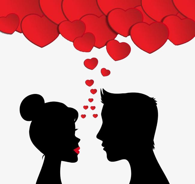 650x613 Couple Silhouette, Red Black, Love, Lovers Png Image