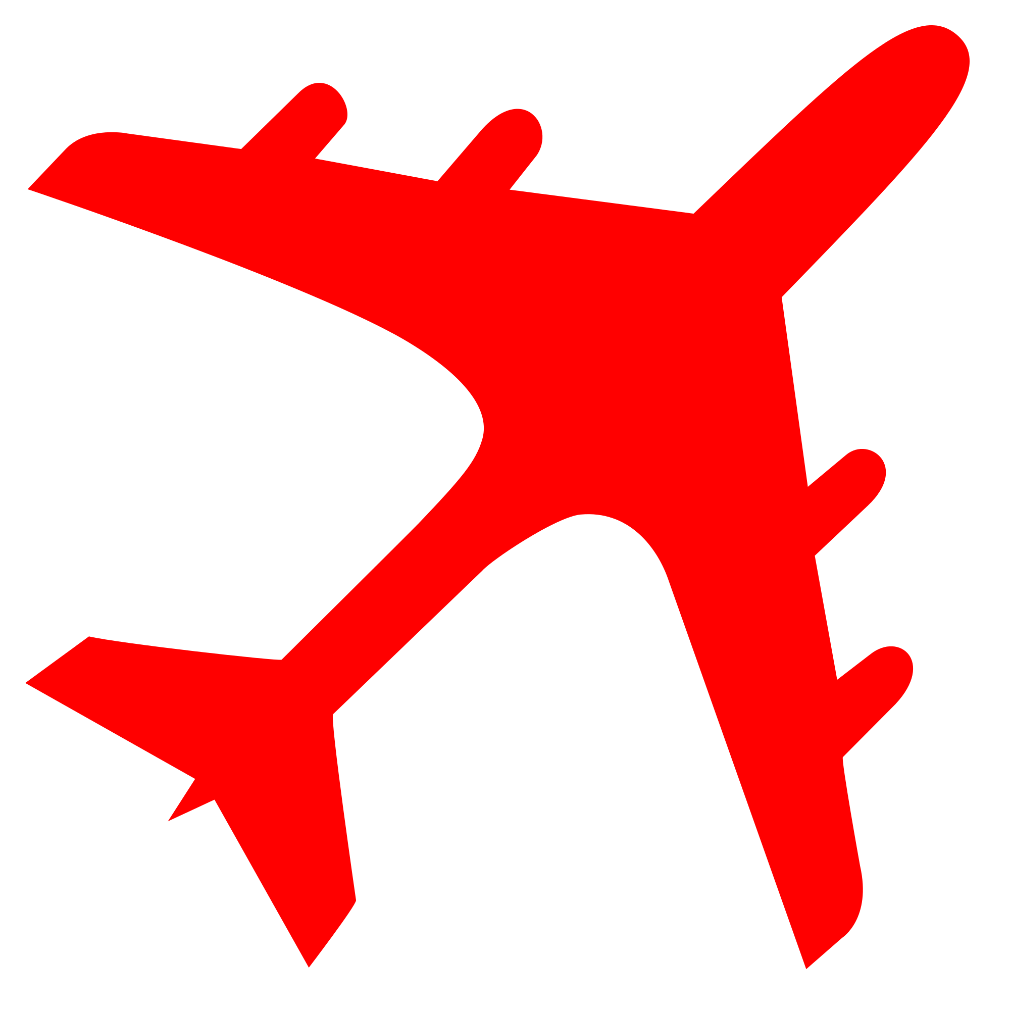 2000x2000 Fileairplane Silhouette Red.svg