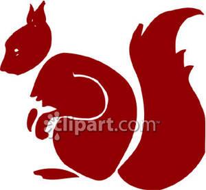300x277 Squirrel Silhouette