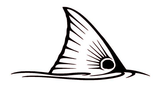 570x313 Red Drum Fin Decal Fishing Decal Yeti Fish By Kris10scrafts Fish