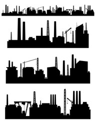 192x240 Three Factories Silhouettes