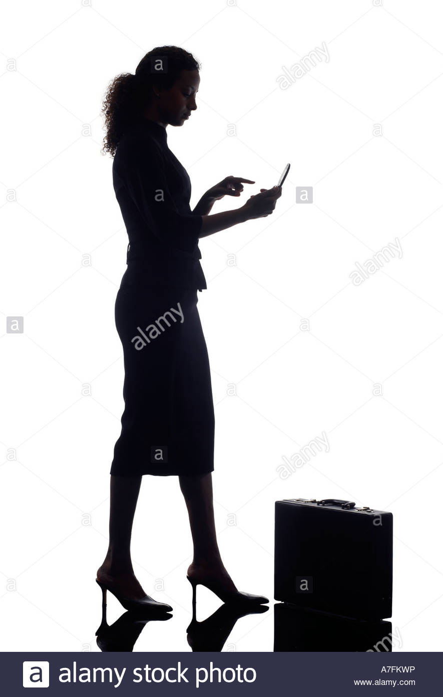 885x1390 Business Woman Silhouette Stock Photo 11826273