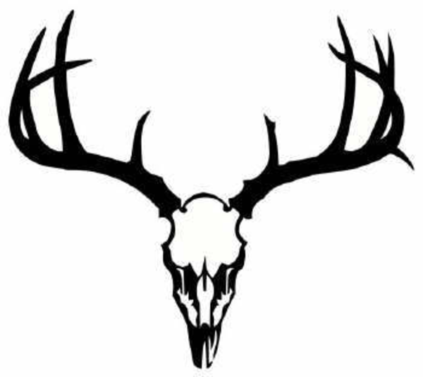 600x535 Drawn Antler Silhouette