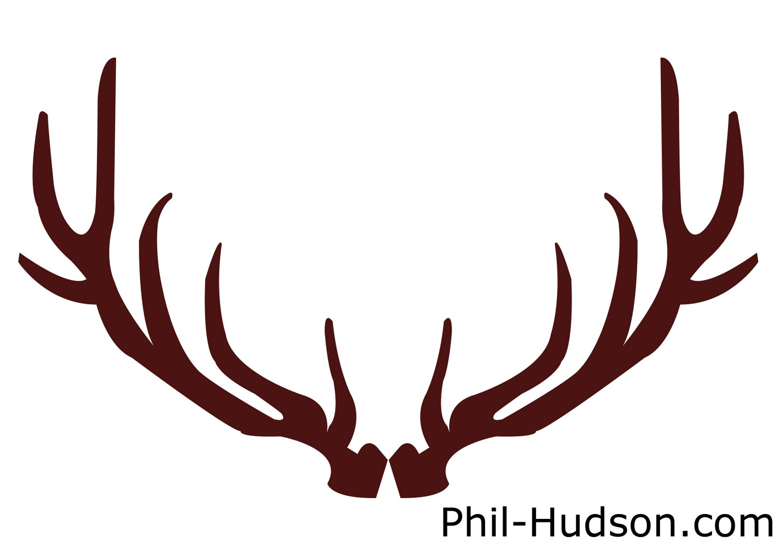 reindeer antlers silhouette at getdrawings com free for personal rh getdrawings com reindeer antlers clipart black and white