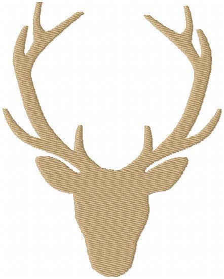 442x549 Deer Head Silhouette With Antlers
