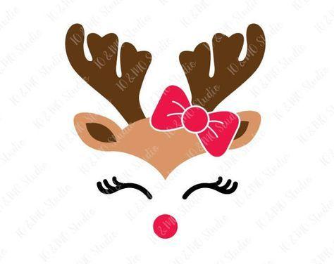 474x376 Reindeer Svg, Christmas Svg, Reindeer Head Svg, Reindeer Clip Art