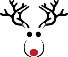 236x199 Reindeer Face Reindeer Face, Silhouette Design And Silhouettes