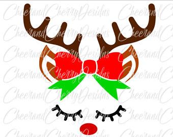 340x270 Reindeer Face Svg Etsy