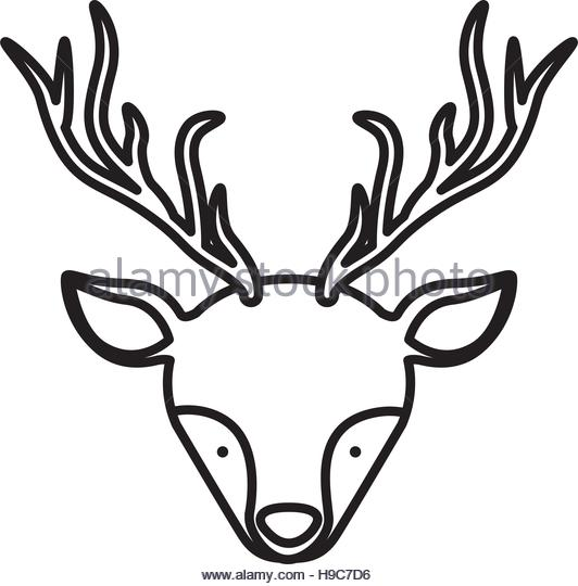 532x540 Silhouette Of Stag Stock Photos Amp Silhouette Of Stag Stock Images
