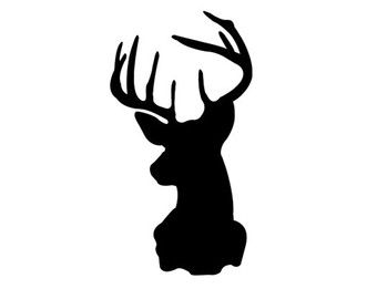 340x270 Deer Head Decal Silhouette Svg Dxf File Instant Download