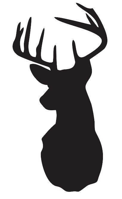 409x668 Deerstag Head Stencil Pick A Size Between 3 20 For Painting