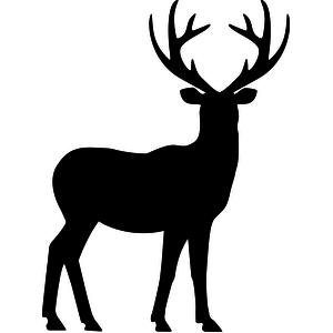 reindeer silhouette clip art at getdrawings com free for personal rh getdrawings com reindeer antlers headband clipart reindeer antlers clipart black and white