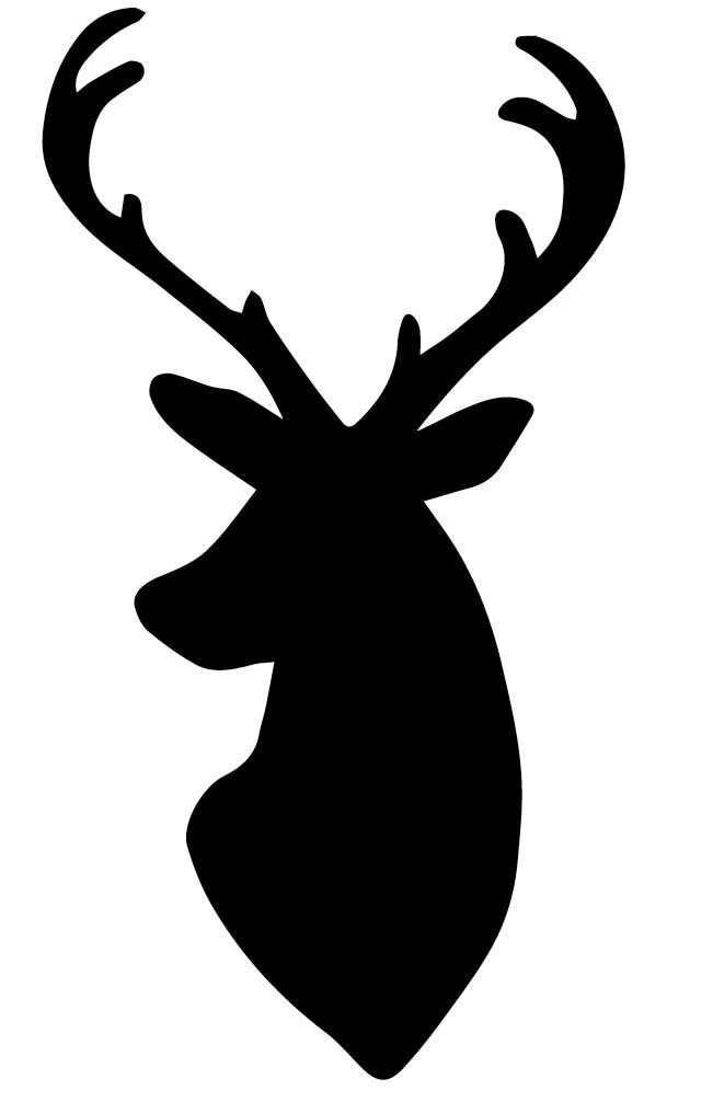 Reindeer Silhouette Head