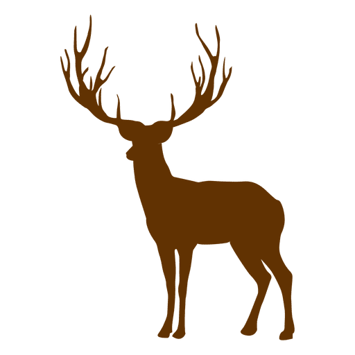 512x512 Hipster Reindeer Silhouette