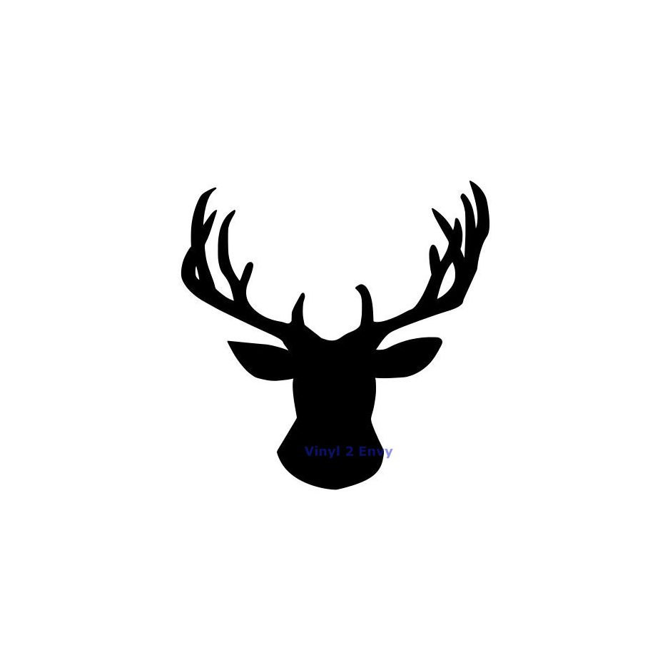 939x939 Free Deer Head Silhouette, Hanslodge Clip Art Collection