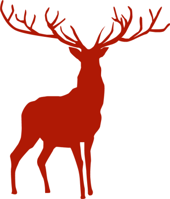 343x400 Gallery For Gt Santa Sleigh Silhouette Png Christmas