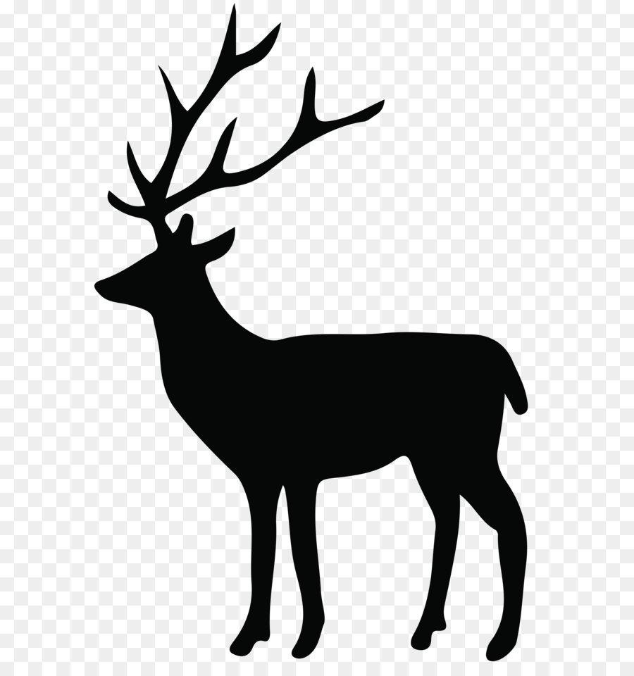 900x960 Reindeer Silhouette White Tailed Deer Clip Art