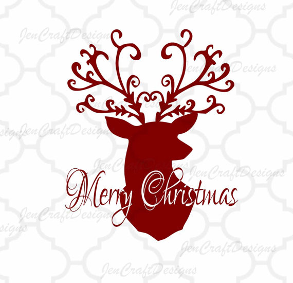 570x550 Christmas Reindeer Svg,eps Png Dxf,digital Download Files