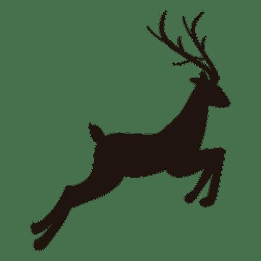 512x512 Reindeer Silhouette Jumping 24