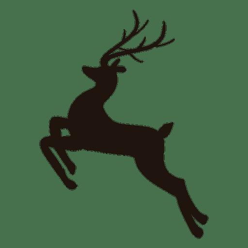 512x512 Reindeer Silhouette Jumping 25