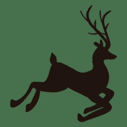512x512 Reindeer Silhouette Jumping 50