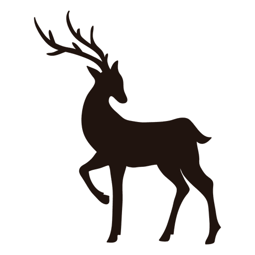512x512 Reindeer Silhouette Standing 18