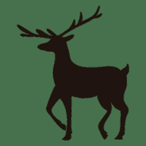 512x512 Reindeer Silhouette Walking 51