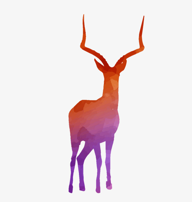 650x683 Color Wild Reindeer Silhouette Vector Material, Wild, Color