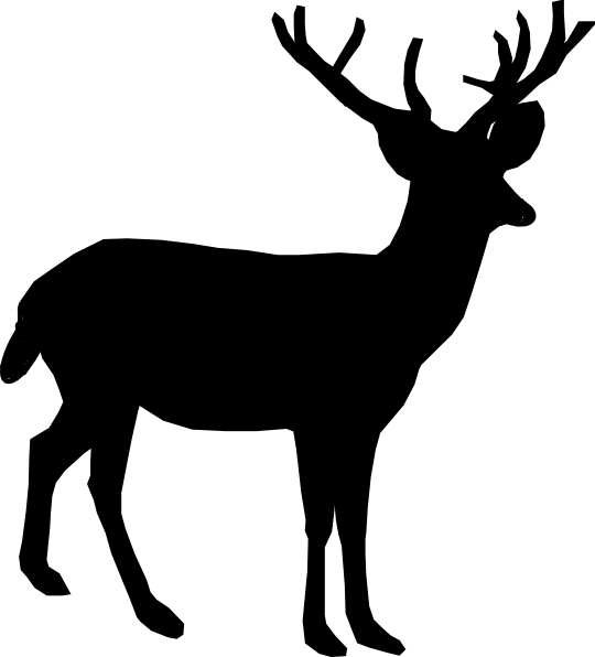 540x596 Deer Silhouette Clip Art