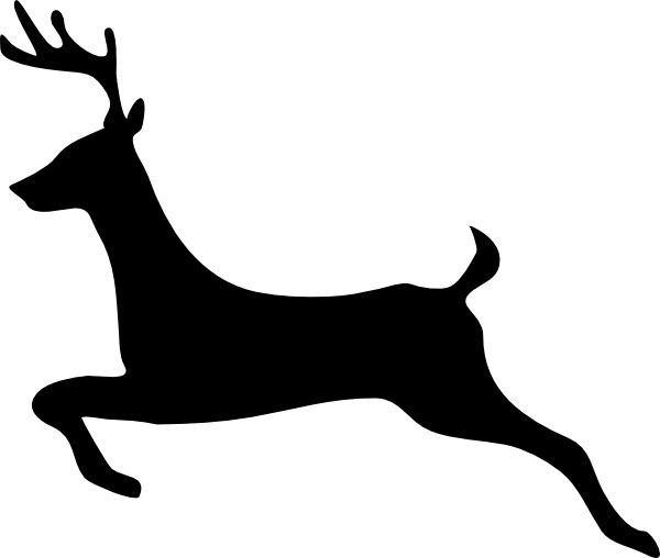 Reindeer Silhouette Template at GetDrawings.com | Free for personal ...